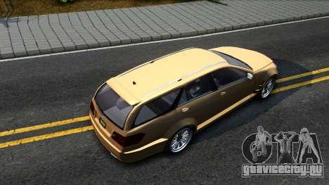 GTA V Benefactor Schafter Wagon для GTA San Andreas вид сзади