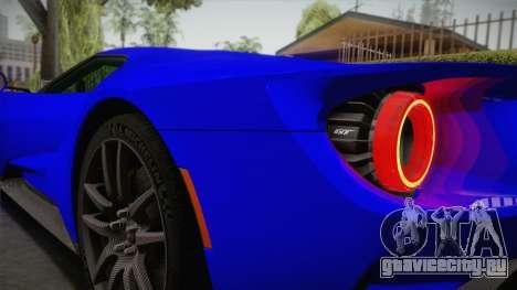 Ford GT 2017 для GTA San Andreas вид сбоку