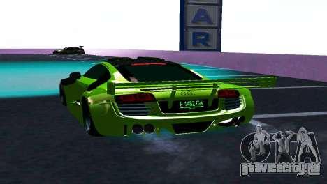 AUDI R8 LMS SPORTS для GTA San Andreas вид справа