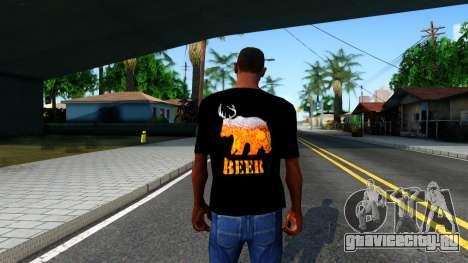Black Beer T-Shirt для GTA San Andreas третий скриншот