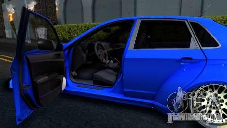 Subaru WRX STi Widebody для GTA San Andreas вид сзади