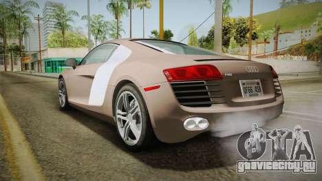 Audi R8 Coupe 4.2 FSI quattro US-Spec v1.0.0 v4 для GTA San Andreas вид слева