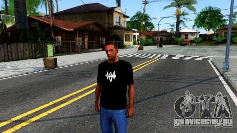 T-Shirt Watch Dogs 2 для GTA San Andreas