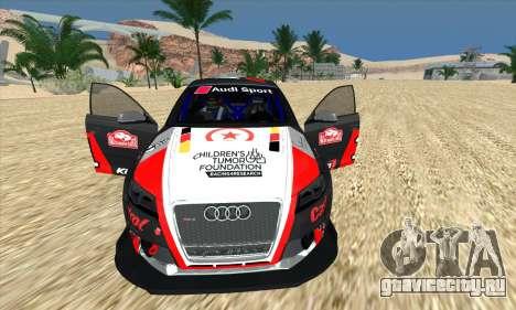 Audi RS3 Sportback Rally WRC для GTA San Andreas вид снизу