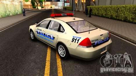 2007 Chevy Impala Bayside Police для GTA San Andreas вид справа