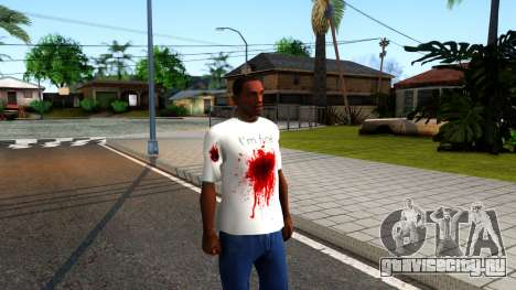 White I am Fine T-Shirt для GTA San Andreas второй скриншот