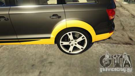2009 Audi Q7 AS7 ABT для GTA 5 вид сзади справа