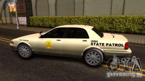 Brute Stanier Slicktop 2009 Iowa State Patrol для GTA San Andreas вид слева
