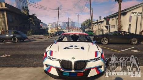BMW 3.0 CSL Hommage R Concept для GTA 5 вид спереди справа