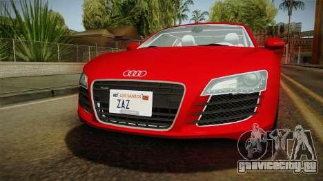 Audi R8 Coupe 4.2 FSI quattro EU-Spec 2008 YCH2 для GTA San Andreas вид сверху