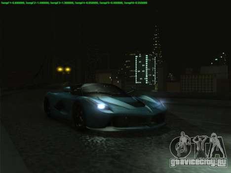 LaFerrari 2017 для GTA San Andreas вид сзади слева