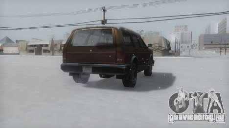 Landstalker Winter IVF для GTA San Andreas вид сзади слева