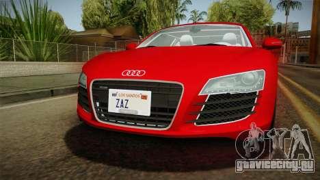 Audi R8 Coupe 4.2 FSI quattro EU-Spec 2008 YCH2 для GTA San Andreas вид сбоку