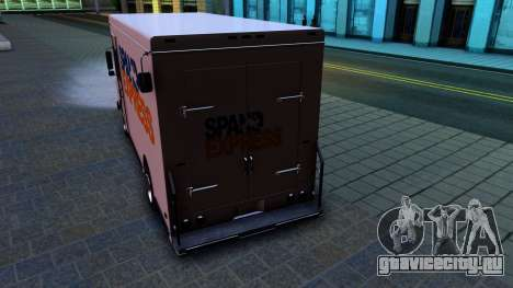 GTA IV Brute Boxville with SpandEx livery для GTA San Andreas вид справа