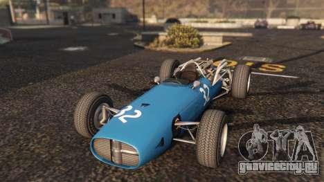Cooper F12 1967 v2 для GTA 5 вид сзади