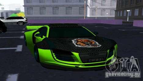 AUDI R8 LMS SPORTS для GTA San Andreas вид сзади