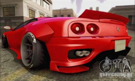 Ferrari 360 LB Work для GTA San Andreas вид справа