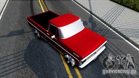 Ford F100 1975 для GTA San Andreas вид сзади