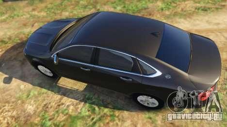 Chevrolet Impala 2015 для GTA 5 вид сзади