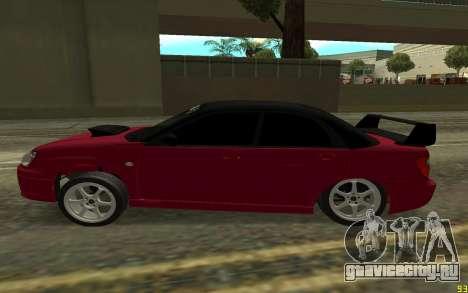 Subaru Impreza для GTA San Andreas вид слева