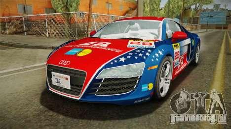 Audi R8 Coupe 4.2 FSI quattro US-Spec v1.0.0 v4 для GTA San Andreas