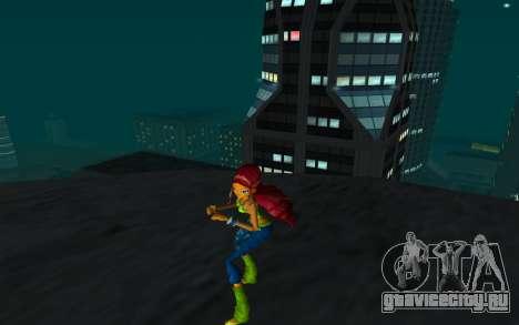 Aisha Rock Outfit from Winx Club Rockstars для GTA San Andreas второй скриншот