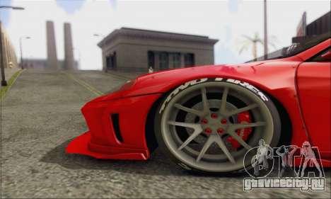 Ferrari 360 LB Work для GTA San Andreas вид изнутри
