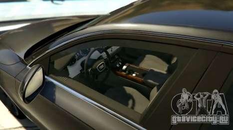 2010 Audi A8 FSI v4.0 для GTA 5 вид слева