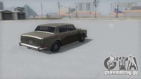 Stafford Winter IVF для GTA San Andreas вид слева
