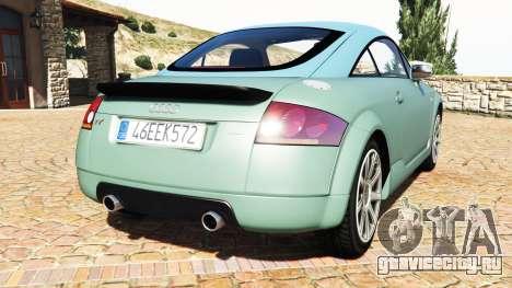 Audi TT (8N) 2004 v1.1 [add-on] для GTA 5 вид сзади слева