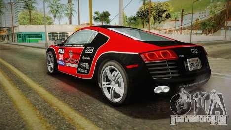 Audi R8 Coupe 4.2 FSI quattro US-Spec v1.0.0 v4 для GTA San Andreas колёса