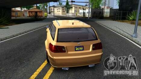 GTA V Benefactor Schafter Wagon для GTA San Andreas вид сзади слева