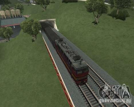 Пассажирский локомотив ЧС4т-521 для GTA San Andreas салон