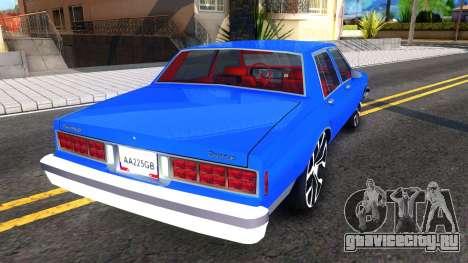Chevrolet Caprice 1987 Tuning для GTA San Andreas вид справа