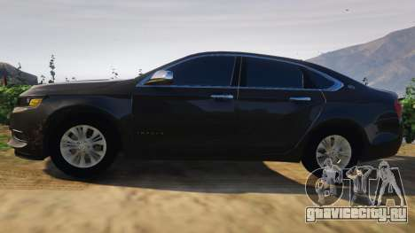 Chevrolet Impala 2015 для GTA 5 вид слева