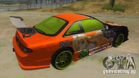 Azuki Azusa Itasha Nissan Silvia Vinyl для GTA San Andreas вид справа