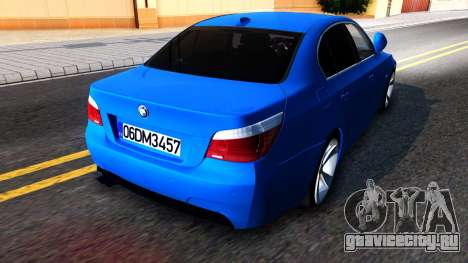 BMW E60 520D M Technique для GTA San Andreas вид сзади слева