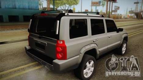 Jeep Commander 2010 для GTA San Andreas вид слева