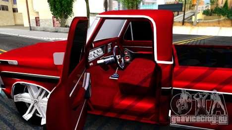 Ford F100 1975 для GTA San Andreas вид изнутри