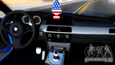BMW E60 520D M Technique для GTA San Andreas вид изнутри