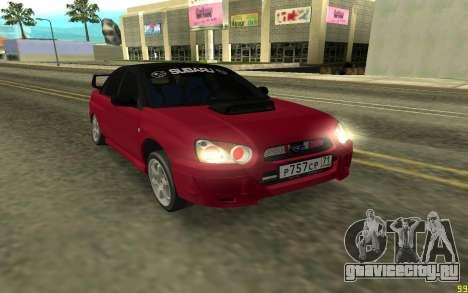 Subaru Impreza для GTA San Andreas