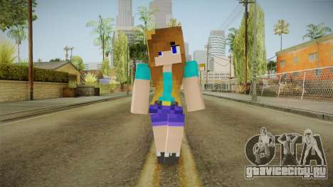 Minecraft - Stephanie для GTA San Andreas второй скриншот