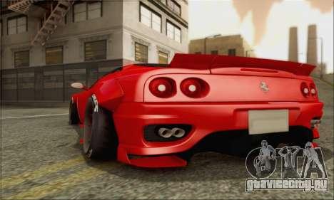 Ferrari 360 LB Work для GTA San Andreas вид сбоку