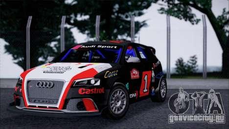 Audi RS3 Sportback Rally WRC для GTA San Andreas вид слева