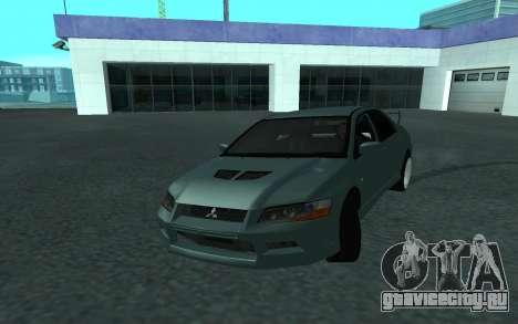 Mitsubishi Lancer Evolution VII для GTA San Andreas вид сбоку