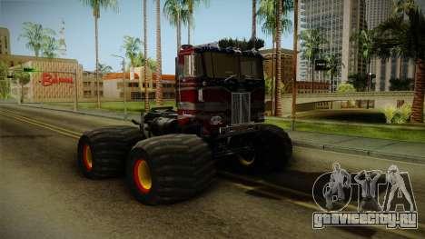 Peterbilt Monster Truck для GTA San Andreas вид сзади слева