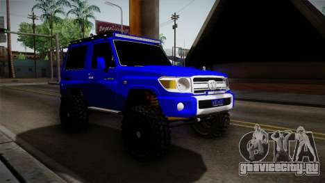 Toyota Macho 2015 Off Road для GTA San Andreas вид справа
