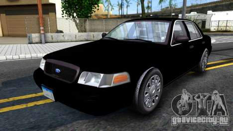 Ford Crown Victoria OHSP Unmarked 2010 для GTA San Andreas
