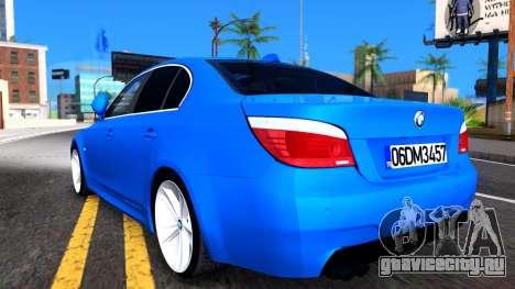 BMW E60 520D M Technique для GTA San Andreas вид справа