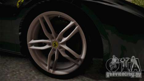 Ferrari 488 GTB для GTA San Andreas вид сзади